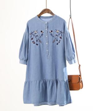 Đầm Denim Thêu KB01