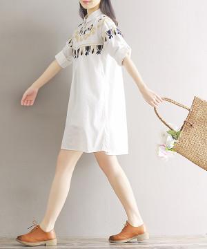 Đầm Sơ Mi Thêu KB02